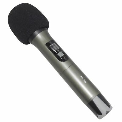 MICROFONO WIRELESS UHF IN METALLO DISPLAY LCD RADIO PALMARE GELATO professionale