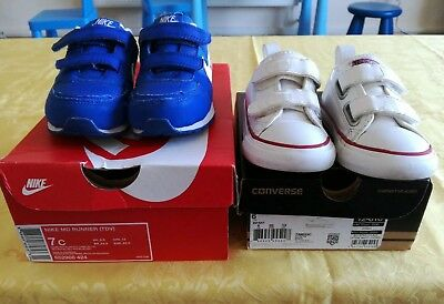 Infant Converse And Nike Shoes Bundle Size 6-6.5