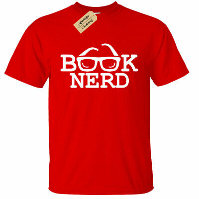 KIDS BOYS GIRLS Book Nerd Funny Tee Geek Reading college school gift homework