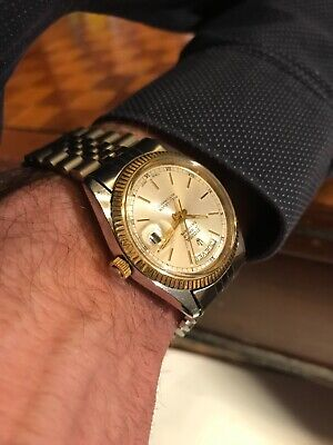 Vintage SICURA BREITLING Day Date Automatic 17 jewels Swiss Made 1970-80's