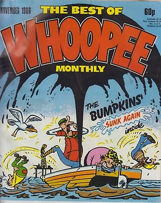 Comic, The Best Of Whoopee Monthly November, 1986. In good Condition.