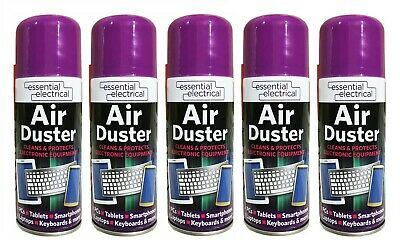 5 x 200ml Compressed Air Duster Cleaner Can,Canned for Laptop Keyboard Mouse