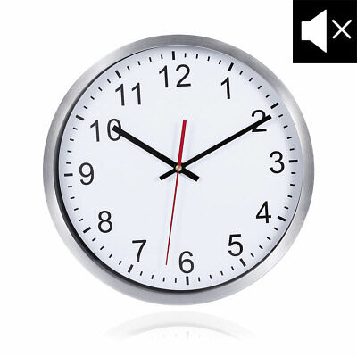 Large 30cm Round Wall Clock With Quartz Movement Non-Ticking Silent Wall Clock