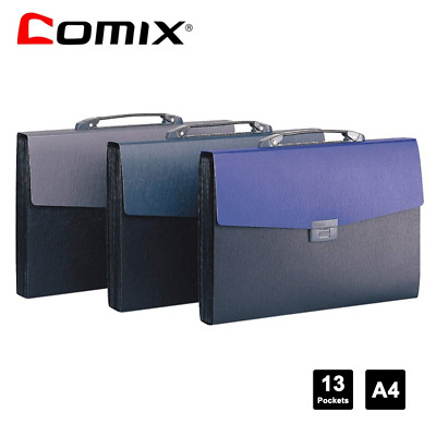 Comix Office Expanding File Folder 13Pockets Documents Organizing and PaperFiles