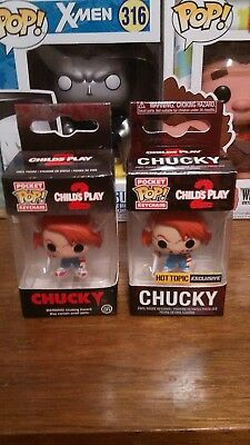 Funko Pocket Pop! Keychains: Childs Play 2, 2015 Chucky! And 2018 Hot Topic!