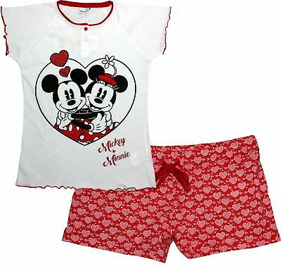 Disney Minnie Mouse Ladies Love at First Sight Short Sleeve Pyjamas Set