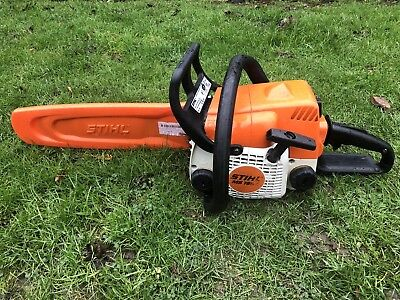 "9a193b0b0dd 2007 Stihl MS180 C Chainsaw Wood Logs Cutting Chain Saw 2 Stroke Petrol 14""  Bar"