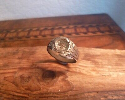 Ancient Romano Celtic Ring With Fantastic Engravings-British Detecting Find