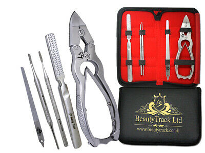 Professional Toe Nail Clippers Cutters PLIERS Chiropody Podiatry Files Set of 5