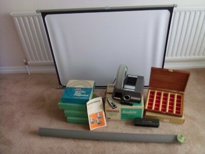 HANIMEX 1200 RF RONDETTE SLIDE PROJECTOR Wired Remote, 30inch SCREEN, PLUS EXTRA