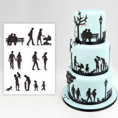 11pcs Family Life Cake Fondant Plunger Cutter Cookies Biscuit Pastry Mold DIY LH