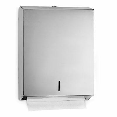 Alpine Stainless Steel Wall Mount C-Fold Multifold Paper Holder Towel Dispenser