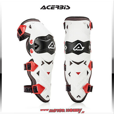 Ginocchiere Off Road Knee Guard Acerbis Impact Evo 3.0 Nero Bianco Tg. Unica