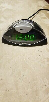 SHARP ALARM CLOCK SPC019A w Snooze Green LED Display