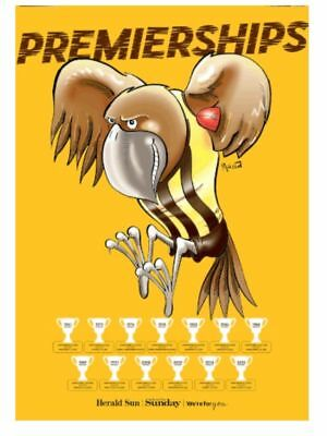2018 A2 SIZE AFL Premierships Glossy Poster Hawthorn Hawks (Herald Sun)