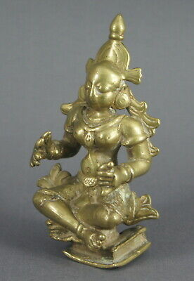 Attractive Small Antique Indian Bronze Deity Figure Nr