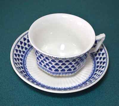 Adams Brentwood Blue Shamrock Ironstone Cup and Saucer