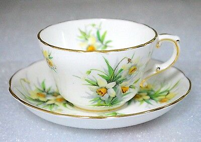Hammersley Yellow Daffodil Flowers Cup Saucer Set