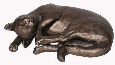 Smokey Curled Up Cat - Frith Sculptures by Paul Jenkins Cold Cast Bronze S195