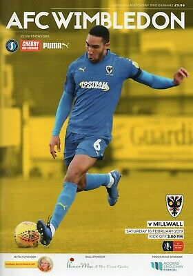 AFC Wimbledon v Millwall - FA Cup 5th Round - 16 February 2019 - Mint Condition