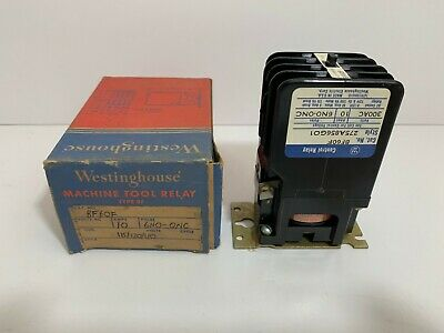 New! Westinghouse Control Relay Bf60F 275A856G01 110/115-120 Volt 50/60 Hz