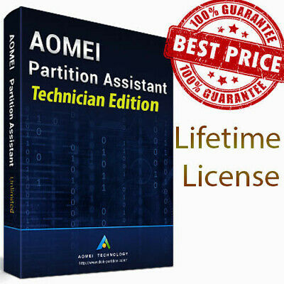 AOMEI Partition Assistant Technician - Life license - Official Seller