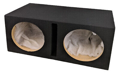 "Double Dual 12"" Custom Slot Ported box MDF enclosure for 2 x 12"" subs Enclosure"