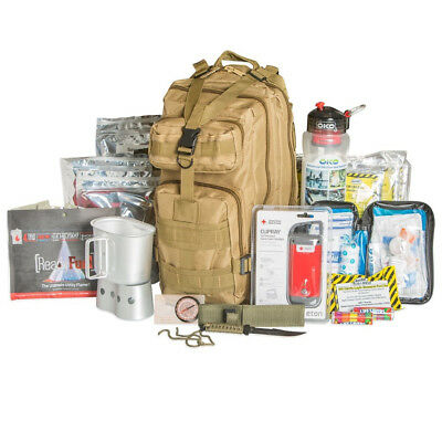 72 Hour Tactical Backpack Survival Kit-Tan .. Free S/H (MIB)