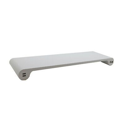 Aluminum Space Bar Laptop Computer Monitor Stand Holder Desk Organizer with L9C4