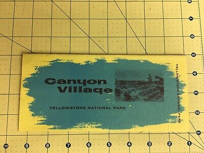 Vintage Brochure Canyon Village Yellowstone National Park Mission 66 Wyoming