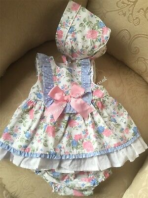 Spanish baby Girls dress set various sizes BNWT Romany