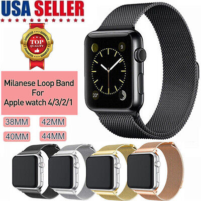 For Apple Watch 4 3 2 1 Milanese Loop Band Stainless Steel iWatch Strap 38/42MM