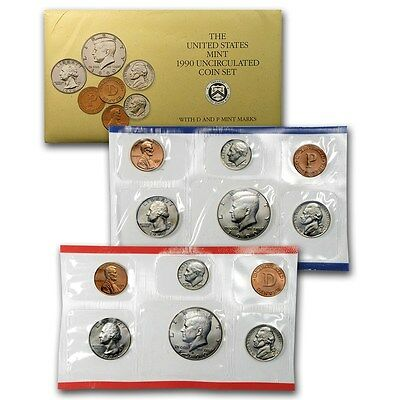 1990 P and D United States U.S. Mint Uncirculated Coin Set - 10 Coins! Free Ship