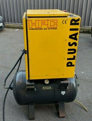 HPC Kaiser screw air compressor SM8 Plusair with tank (JUST SERVICED)