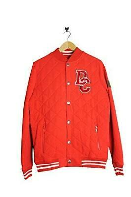 DC Shoes Skate DPMSW032 Mens Red Button Down BaseBall Jacket streetwear