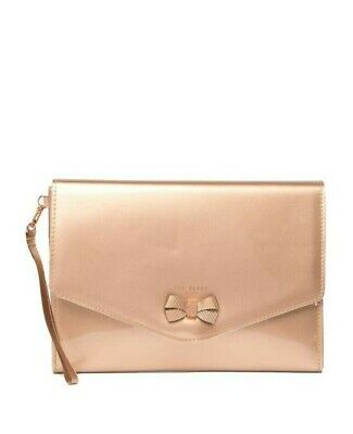 802c98fa42c NWT - Ted Baker London - LUANNE - Bow Envelope Pouch - Rose Gold -  49