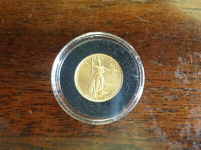 Beautiful 1987 1/10 oz ounce $5 Dollar Gold American Eagle Gold Coin Unc