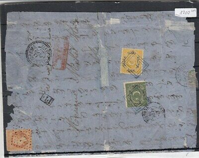 Turkey SMYNA  FRENCH PO to Egypt cover 1870  DUE STAMPS