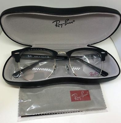 30d36e8477 RAY-BAN RB 5154 5492 Clubmaster Blue Havana New Authentic Eyeglasses ...