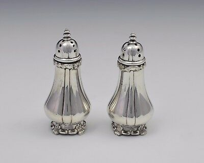 Pair Victorian Tiffany & Co. Soldered Silver Pepperettes