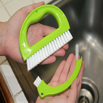 3 in1 Tile Grout Cleaning Brush Mould Remover Narrow Stiff Stain Cleaner ON SALE