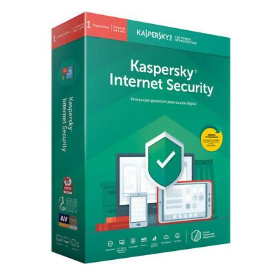 Kaspersky Internet Security 2019 1PC / 1year / Año / para Windows Mac Android