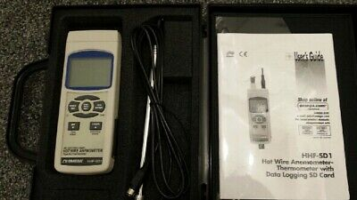 Hot Wire Handheld Anemometer with Data Logger