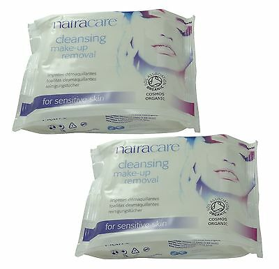 Natracare Démaquillage Maquillage Enlèvement Serviettes (Paquet de 2) -