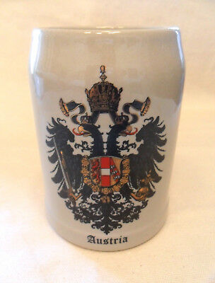 Porcelain beer mug jar - Hassenpflug, Vienna, Austria Imperial 1815 coat of arms