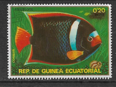 Equatorial Guinea - Used Stamp - 1979 Fish Series 11 King Angelfish