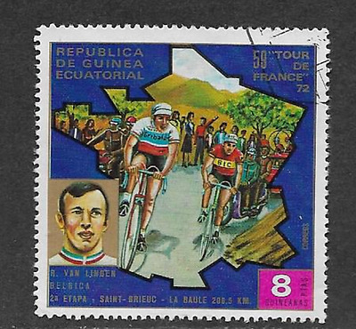 Equatorial Guinea - Used Stamp - 1973 Tour De France - Rik Van Linden