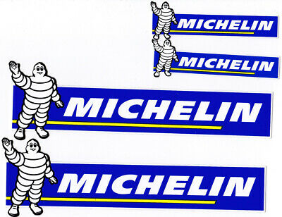 lot de 4 Stickers autocollants bib Michelin (8,5 x2,5cm) &(17 x 5cm)