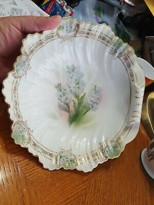 Royal Rudolstadt Prussia Shell Form Bowl, Hand Painted