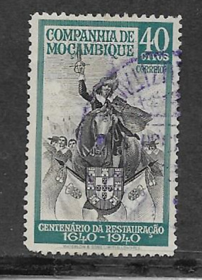 MOZAMBIQUE COMPANY POSTAL ISSUE 1941 USED COMMEMORATIVE 300YEARS PORTUGAL - 40c